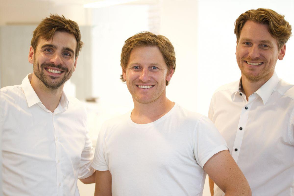 Die Gründer der hansemaske: v.l.Christian Pantelmann,Eike Duen, Felix Duen