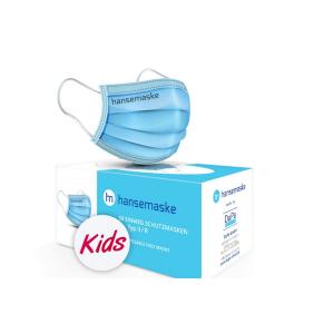 hansemaske Kids - Blau - 50er Pack - Made in Germany