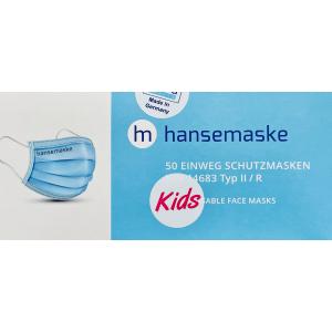 hansemaske Kids - rosa - 50er Pack - Made in Germany